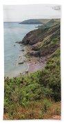 Devon Coastal View Beach Towel