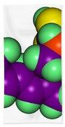 Domoic Acid Molecular Model Beach Towel