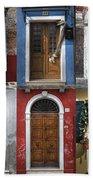 doors and windows of Burano - Venice Beach Towel by Joana Kruse