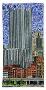 Downtown Pittsburgh - View From Smithfield Street Bridge Beach Towel