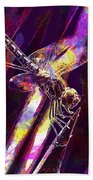 Dragonfly Insect Close  Beach Towel