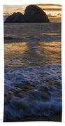 Dramatic Sunset Oregon Coast Usa Beach Towel