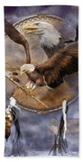 Dream Catcher - Spirit Eagle 2 Beach Towel