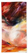 Dreams - Palette Knife Oil Painting On Canvas By Leonid Afremov Beach Towel