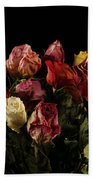 Dried Roses Beach Towel