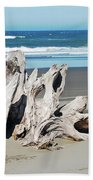 Driftwood On Beach Beach Towel