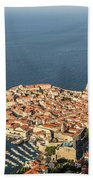 Dubrovnik And The Adriatic Coast In Croatia Beach Towel