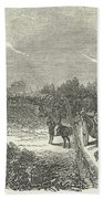 Easter Hunt With The Royal Stag Hounds  The Meet At Stoke Common Beach Towel