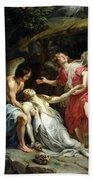 Ecstasy Of Mary Magdalene Beach Sheet