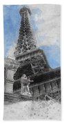 Eiffel Tower Of Paris Beach Towel