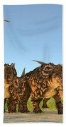 Einiosaurus Dinosaurs Beach Towel