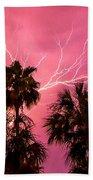 Electrified Palms Beach Towel