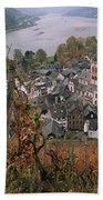 Elevated View Of Bacharach Beach Towel