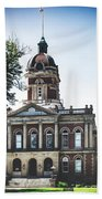 Elkhart County Courthouse - Goshen, Indiana Beach Towel