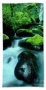 Elowah Falls Columbia River Gorge National Scenic Area Oregon Beach Towel