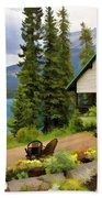 Emerald Lake Yoho National Park Beach Towel