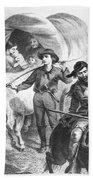 Emigrants To West, 1874 Beach Towel