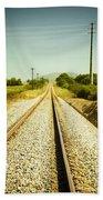 Empty Railway Beach Towel