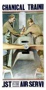 Mechanical Training - Enlist In The Air Service Beach Towel