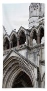 Entrance To Royal Courts Of Justice London Beach Towel