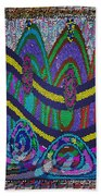 Ethnic Wedding Decorations Abstract Usring Fabrics Ribbons Graphic Elements Beach Towel