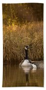 Evening By The Pond Beach Towel