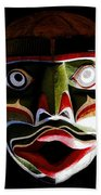 Face Of Totem Beach Towel