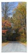 Fall Lane Beach Towel