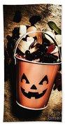 Fall Of Halloween Beach Sheet