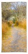 Fall Pathway 3 Beach Towel