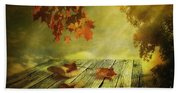 Fallen Leaves Beach Towel