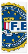Fbi Seal Mockup Beach Towel