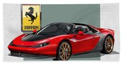 Ferrari Sergio With 3d Badge  Beach Towel