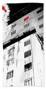 Film Noir Act Of Violence 1949 Pioneer Hotel Fire 1970 Jack Schaeffer Photo Color Added 2012 Beach Towel