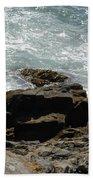 Fine Art Water And Rocks Beach Towel