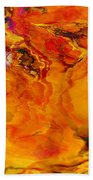 Fire Flower Beach Towel