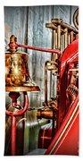 Fireman - The Fire Bell Beach Towel