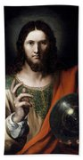 Flemish Salvator Mundi Beach Towel