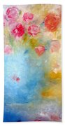 Floral Reflections Beach Towel