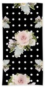Floral Rose Cluster W Dot Bedding Home Decor Art Beach Towel