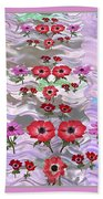 Flower Mania Anemone Fantasy Wave Design Created Of Garden Colors Unique Elegant Decorations Beach Towel