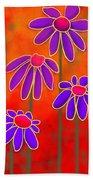 Flower Power Beach Towel