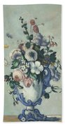 Flowers In A Rococo Vase Beach Towel