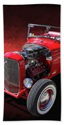 Ford Hot Rod Roadster Beach Towel