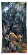Forest In The Caves Above The Chateau Noir Beach Towel