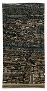 Foster City, California Aerial Photo Beach Towel
