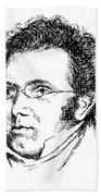 Franz Schubert (1797-1828) Beach Towel