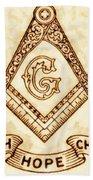 Freemason Symbolism By Pierre Blanchard Beach Sheet
