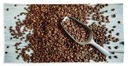 Fresh Roasted Coffe Beans Beach Sheet