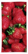 Fresh Strawberries Beach Towel